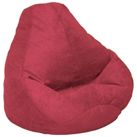 Microsuede Extra Large Red Bean Bag