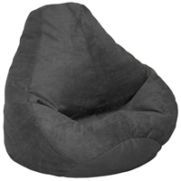 Microsuede Extra Large Black Bean Bag