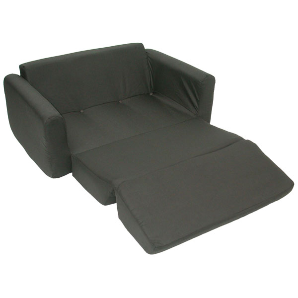 Children's Foam Sofa Sleeper - Black