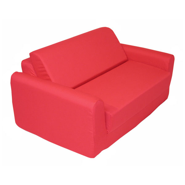 Children's Foam Sofa Bed - Red