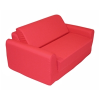 Childrens Foam Sofa Bed - Red