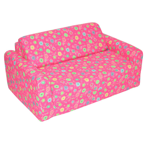 Girl's Foam Sofa Sleeper - Pink Flowers