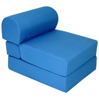 Childrens Foam Chair Bed - Royal Blue