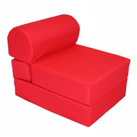 Childrens Folding Foam Chair - Red