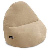 Sitsational XL Fawn Faux Suede Foam Bean Bag Chair