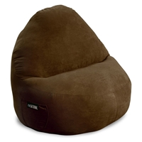 Sitsational XL Chocolate Faux Suede Foam Bean Bag Chair