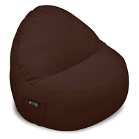 Sitsational XL Chocolate Corduroy Foam Bean Bag Chair
