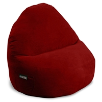 Sitsational XL Red Faux Suede Foam Bean Bag Chair