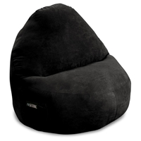 Sitsational XL Black Faux Suede Foam Bean Bag Chair