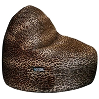 Sitsational 2-Seater Bean Bag Chair - Leopard Print, Velvet