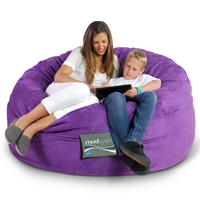 Mod Pod 50 Inch Suede Bean Bag - Purple