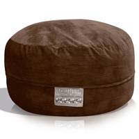 Mod Pod Chocolate Corduroy 52 inch Bean Bag