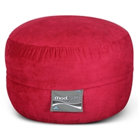 Mod Pod Bean Bag for Kids - Lipstick Red Suede