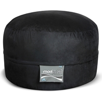 Mod Pod Bean Bag for Kids - Black Suede