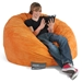 Mod Pod 40 Inch Suede Bean Bag - Pumpkin Orange - EL-32-7024-1010