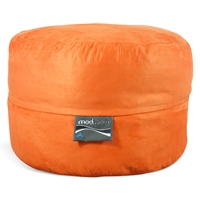 Mod Pod 40 Inch Suede Bean Bag - Pumpkin Orange