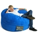 Mod Pod 40 Inch Suede Bean Bag - Blue - EL-32-7024-1011