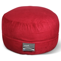 Mod Pod 40 Inch Suede Bean Bag - Lipstick Red