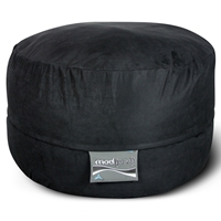 Mod Pod 40 Inch Suede Bean Bag - Black