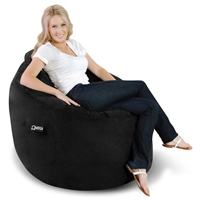 Omega Suede Bean Bag Lounger - Black