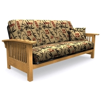Full Size Futon Cover with 2 FREE Pillows - Bamboo Islander