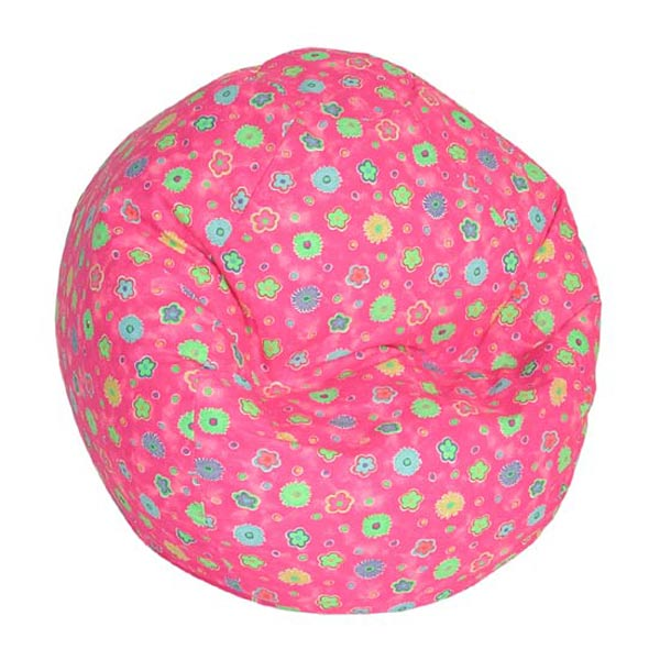 Pink Flowers Toddler Size Bean Bag
