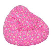 Pink Flowers Kids Bean Bag