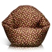 Classic Bean Bag in Brown with Pink and Yellow Dots for Kids - EL-30-9500-002