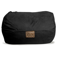 Mod Pod Black Soft Suede Lounger Bean Bag