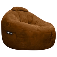 Omega Chocolate Faux Suede Lounger Bean Bag