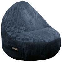 Sitsational 2-Seater Midnight Corduroy Foam Bean Bag Chair