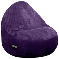 Sitsational Extra Large Aubergine Corduroy Foam Bean Bag Chair