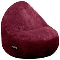 Sitsational 2-Seater Berry Corduroy Foam Bean Bag Chair