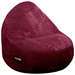 Sitsational 2-Seater Berry Corduroy Foam Bean Bag Chair - EL-32-6502-1104