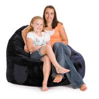 Sitsational Faux Suede Foam Bean Bag Sofa