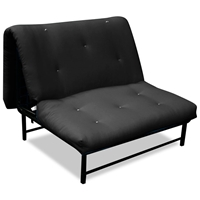 X-Factor Convertible A-Frame Futon in Solid Black