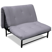 X-Factor Convertible A-Frame Futon in Grey