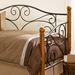 Doral Twin Daybed in Matte Black and Walnut - FBG-B50333