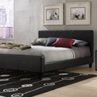 Euro Contemporary Low Profile Platform Bed in Black