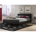 Euro Contemporary Low Profile Platform Bed in Black - FBG-B91L6