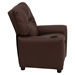 Leather Kids Recliner Chair - Cup Holder, Brown - FLSH-BT-7950-KID-BRN-LEA-GG