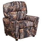 Fabric Kids Recliner Chair - Cup Holder, Camouflaged