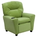 Microfiber Kids Recliner Chair - Cup Holder, Avocado - FLSH-BT-7950-KID-MIC-AVO-GG