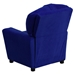 Microfiber Kids Recliner Chair - Cup Holder, Blue - FLSH-BT-7950-KID-MIC-BLUE-GG