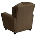Microfiber Kids Recliner Chair - Cup Holder, Brown - FLSH-BT-7950-KID-MIC-BRWN-GG