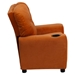 Microfiber Kids Recliner Chair - Cup Holder, Orange - FLSH-BT-7950-KID-MIC-ORG-GG