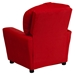 Microfiber Kids Recliner Chair - Cup Holder, Red - FLSH-BT-7950-KID-MIC-RED-GG