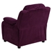 Deluxe Padded Upholstered Kids Recliner - Storage Arms, Purple, Microfiber - FLSH-BT-7985-KID-MIC-PUR-GG