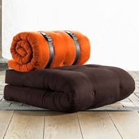 Chocolate Chair Sleeper with Buckle Up Mattress