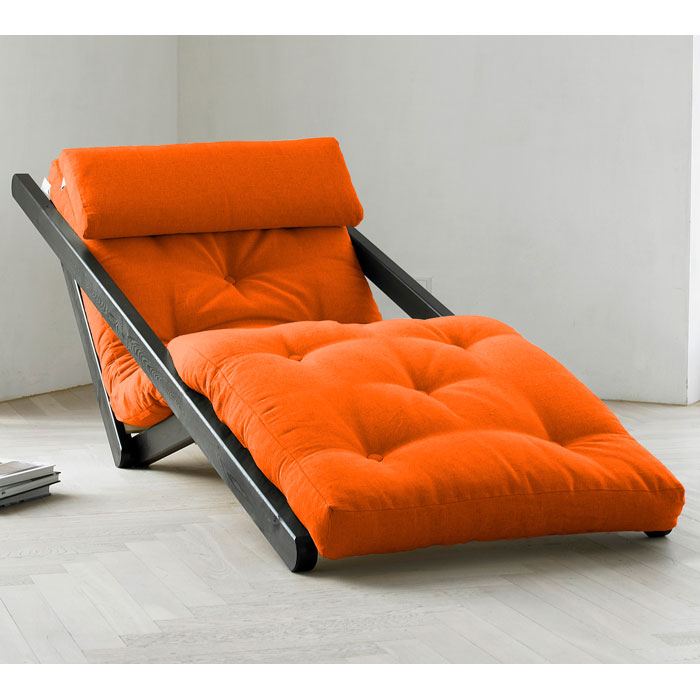 Figo Futon Lounger with Wenge Frame